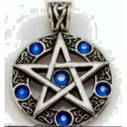 pingente pentagrama em aço...